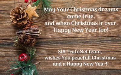 SIA TrafoNet team wishes You Merry Christmas and a Happy New Year!
