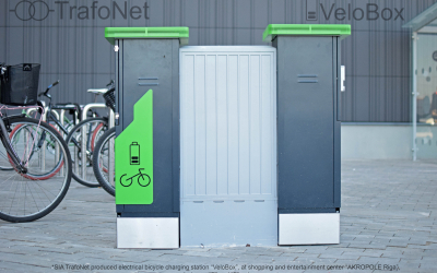 """VeloBox"" – electric bicycle charging station"
